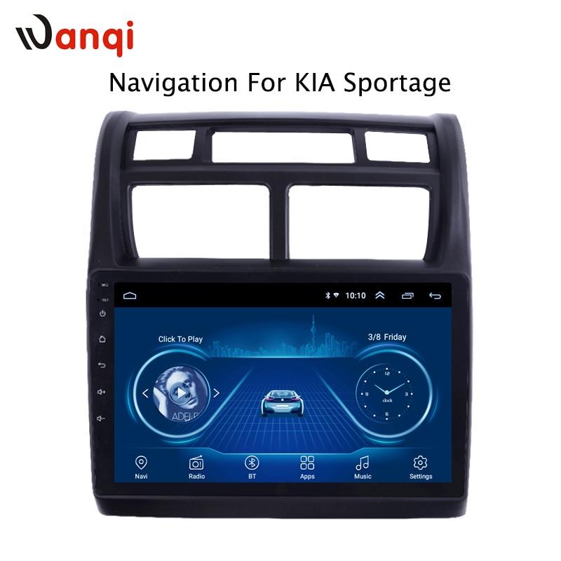 9 pouces Android 8.1 2.5D trempé HD écran tactile Radio pour KIA Sportage 2007-2013 avec Bluetooth USB WIFI support SWC