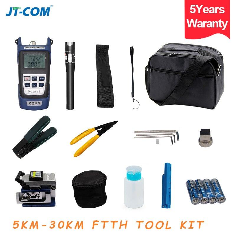 Pcs Kit de Fibra Óptica FTTH Ferramenta com FC-6S 12 Fiber Cleaver e Power Meter Óptico 30 km Localizador Visual de Falhas descascador de Fios de cabo