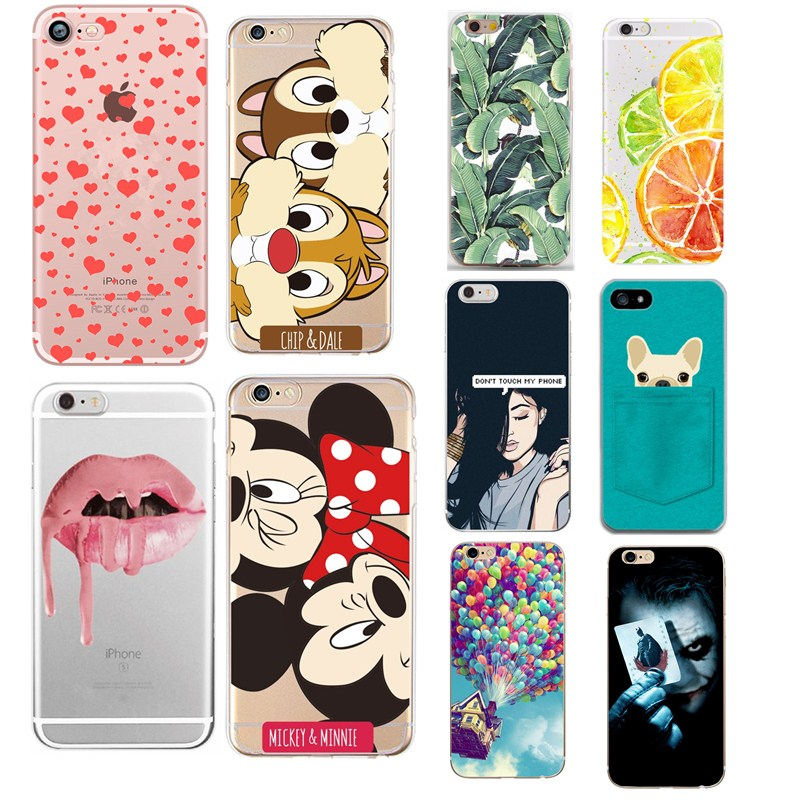 Case Of Love Heart On Print For iPhone 5S Cases For Sexy Girl Lips TPU Back Cover Fundas Capa For iphone 7 8 Plus 6 6s 5 se Case iPhone