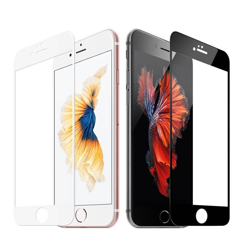 3D-GLASS För iPhone 7 6 6s Plus Skärmskydd Rund böjd kant Premium - Reservdelar och tillbehör för mobiltelefoner - Foto 3