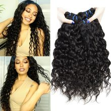 Yavida Malaysia Curly Hair Bundles 1/3/4 Pieces Human Hair Extensions Wet and Wavy Hair Bundles NonRemy Human Hair Weave Bundles(China)