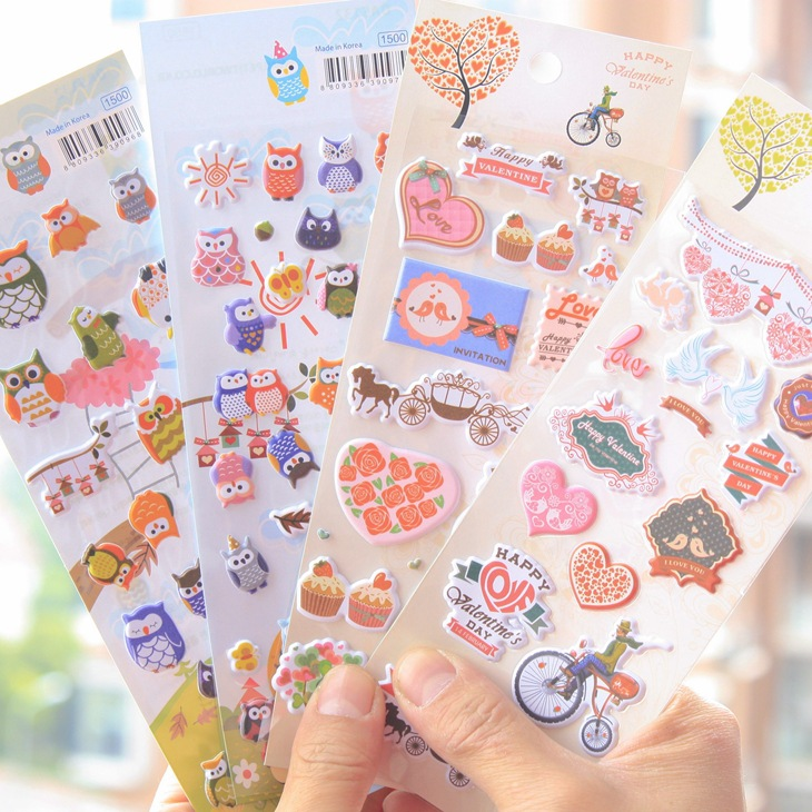 20pcs /1 lot 3D scrapbooking stickers Notepad stationery ...