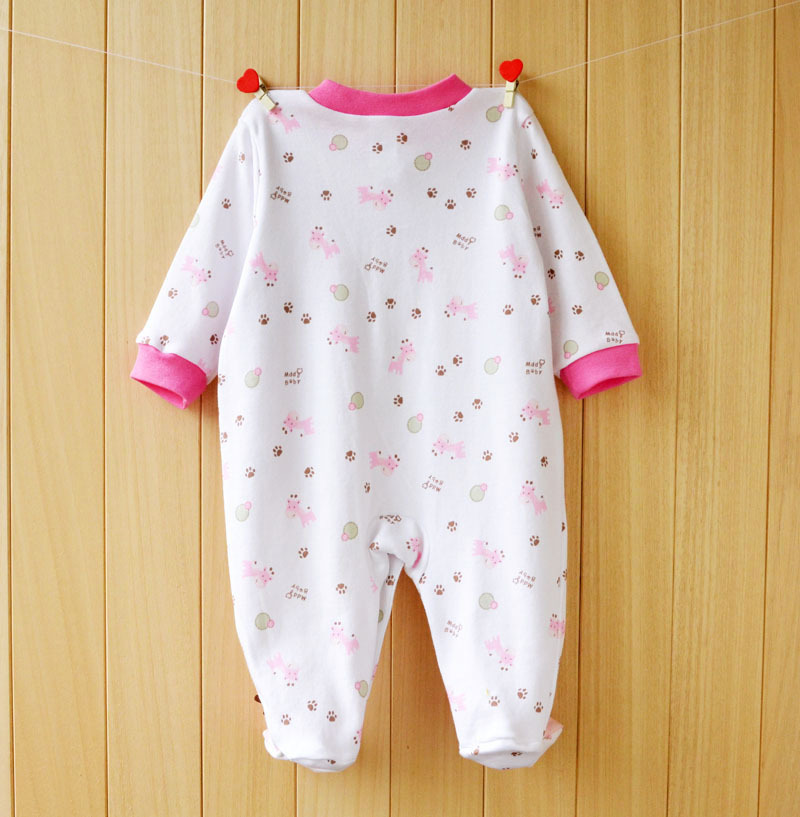 17 New spring cartoon baby rompers cotton 100% girls and boys clothes long sleeve romper Baby Jumpsuit newborn baby Clothing 3