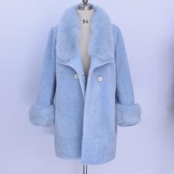 100 real leather winter new women sheep shearing fur fur one real fox hair fur coat.jpg 250x250