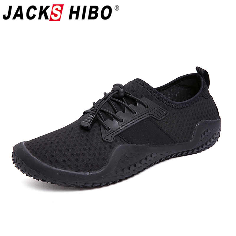 JACKSHIBO Water Shoes Sneakers For Men Male Outdoor Sport Beach Swimming Shoes Breathable Barefoot Sneakers Aqua Upstream Shoes
