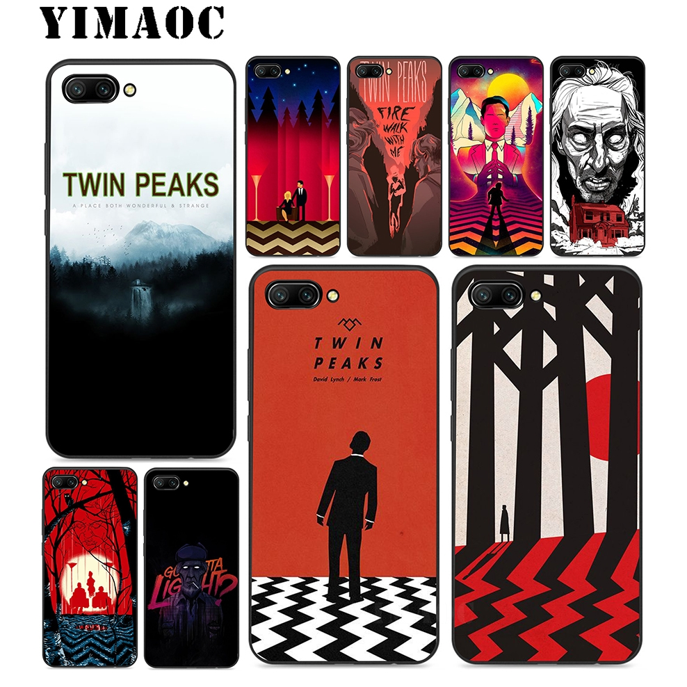YIMAOC Twin Peaks Soft Silicone Case For Huawei Honor Mate P20 P10 P9 P8 10 9 8 P Smart Y6 6A Lite Pro 2017