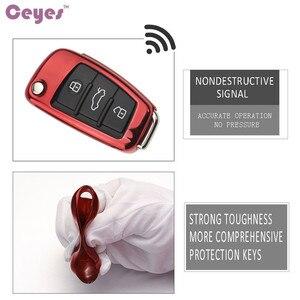 Image 3 - Ceeyes funda protectora de TPU suave para coche, carcasa protectora para Audi S8, A6, A6L, Q5, S5, S7, A4, A4L, A5