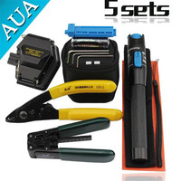 Fiber Optic Tool 5 in 1 FTTH Splice fiber optic tool kits Fibre stripper SKL 6C fiber cleaver 10MW Visual Fault Locator