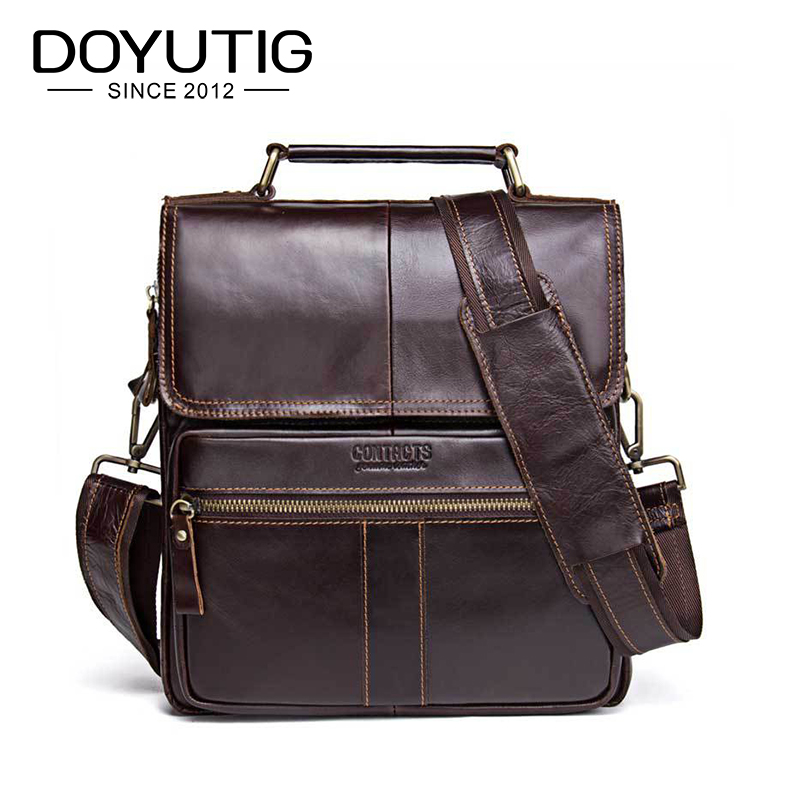 DOYUTIG Casual Mens Square Middle Flap Business Style Real Cow Leather Shoulder Bag Fashion Genuine Leather Crossbody Bags G131DOYUTIG Casual Mens Square Middle Flap Business Style Real Cow Leather Shoulder Bag Fashion Genuine Leather Crossbody Bags G131