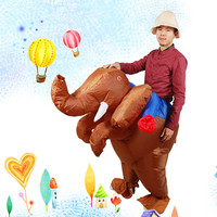 Holiday Funny Inflatable Elephant Costume Adult Rex Jurassic Halloween Inflatable Fancy Dress