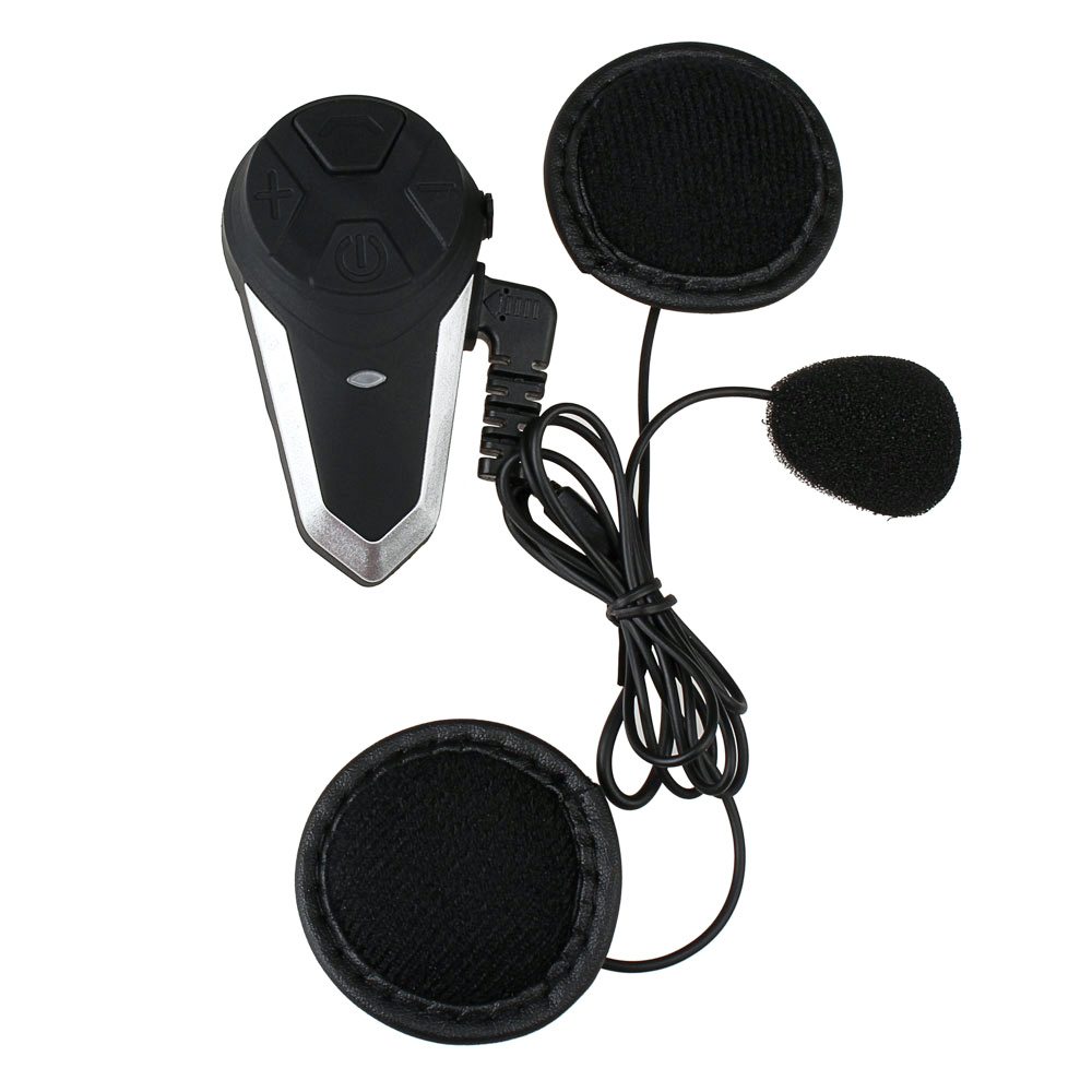 Fodsports BT-S3 Intercomunicador do Capacete Da Motocicleta Capacete de Moto Intercomunicador fone de Ouvido Bluetooth À Prova D' Água BT Interfone FM