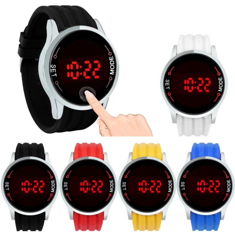 New Top Brand Fashion Waterproof Men LED Touch Screen Day Date Silicone Wrist Watch #200717Wholesale Price