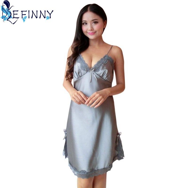 Women Silk Lace Nightgowns 1