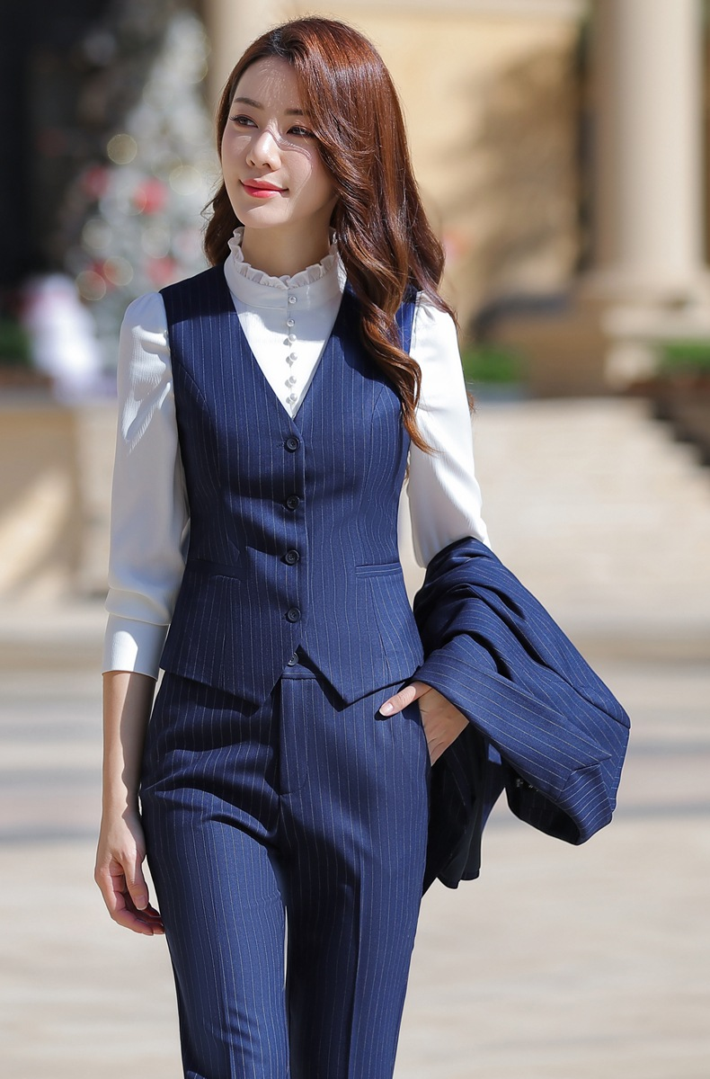 HTB1CKPDaeH2gK0jSZFEq6AqMpXa5 - Women Two Piece Outfits Elegant Stripe Full Sleeve Blazer+Skirt 2 Pieces Business Career Skirt Suits Office Clothes KY80869