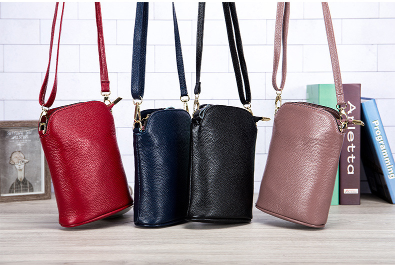 Cheap woman real leather bag