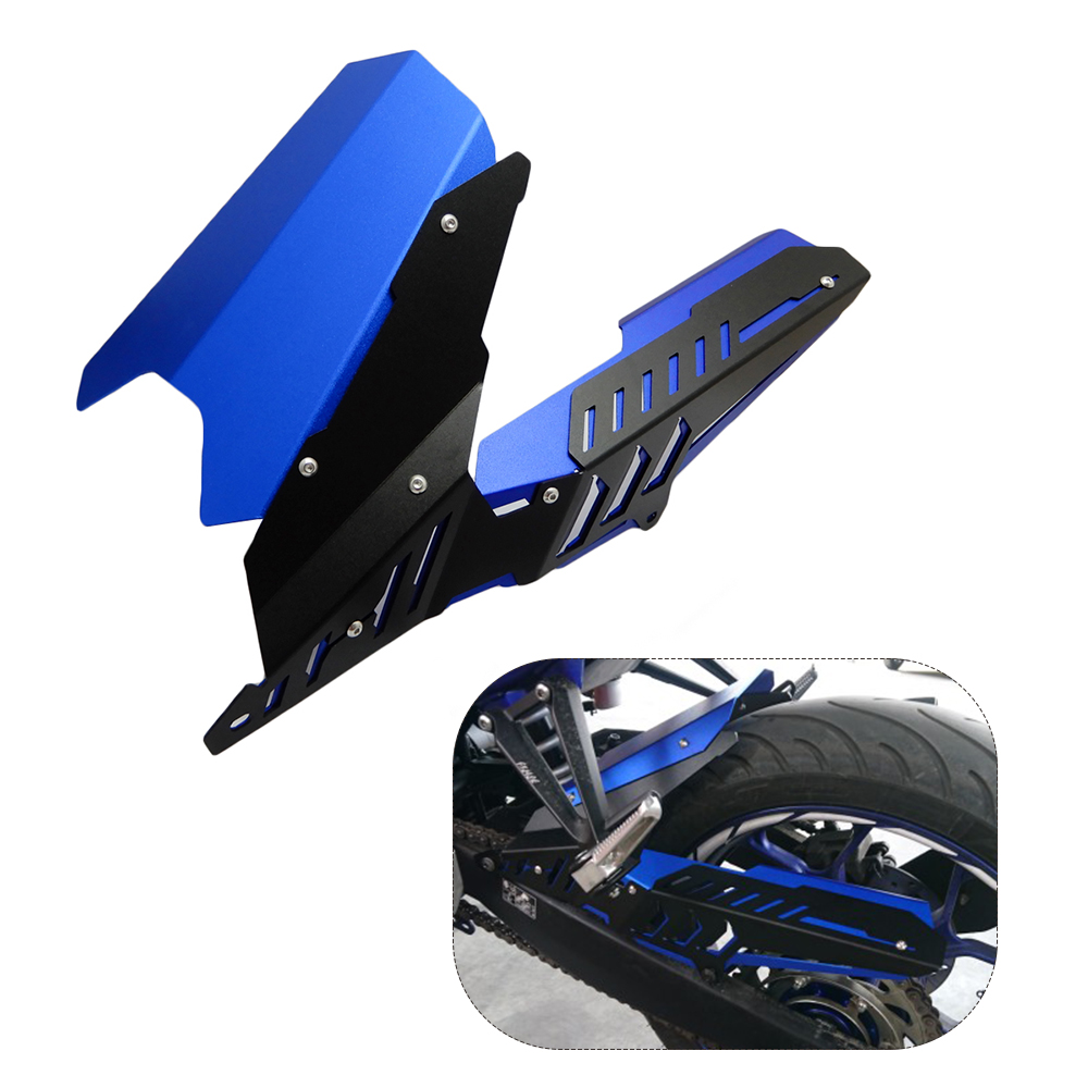 For Yamaha YZF-R25 YZF-R3 CNC Rear Fender Mudguard Chain Guard Cover Kit for YAMAHA YZF R25 R3 MT-03 MT03 MT 03 2015 2016 2017 for yamaha yzf r3 r25 mt 03 2014 2015 2016 motorcycle rearset rear set replacement base mounting bracket plate cnc machined