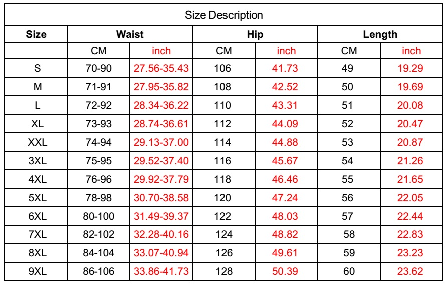 US SIZE FOR BEACH SHORT