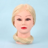 26 Silicone 30 Real Hair Salon Women Mannequin Manikin Training Head Practice Hairdressing Head Model