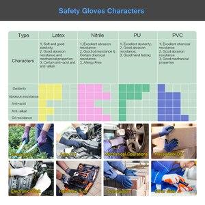 Image 5 - מקצועי עבודה כפפות GMG חיל הים כחול Polycotton פגז כחול PVC נקודות ציפוי עבודת בטיחות כפפות כותנה כפפות