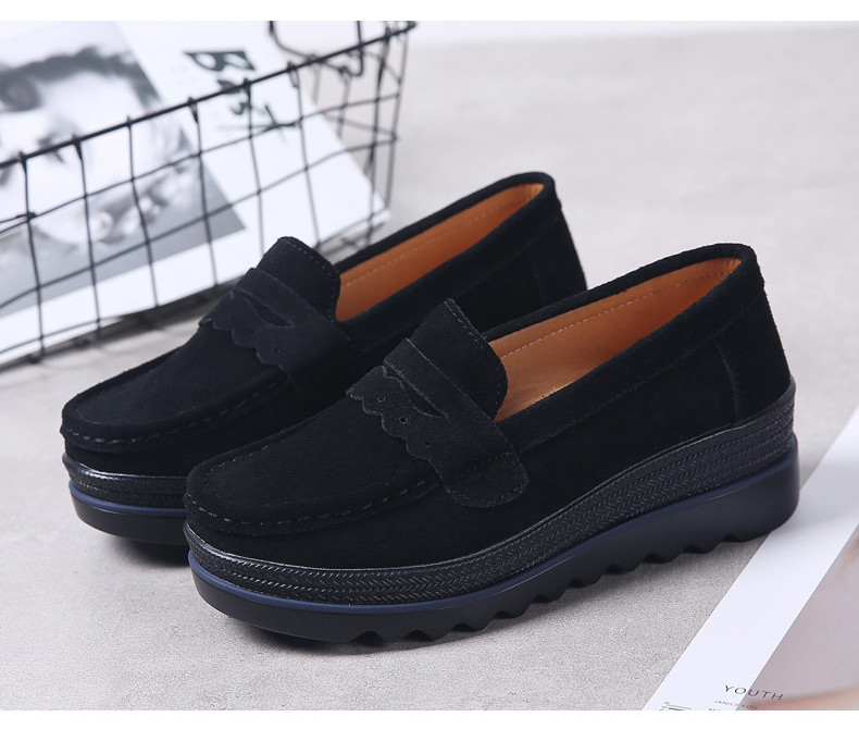 HX 8775-Spring Autumn Genuine Leather Women Shoes-2