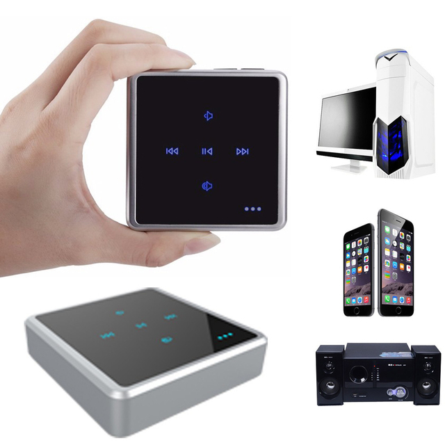 2 in 1 Wireless Bluetooth Audio Receiver Transmitter With Touch Screen Bluetooth Audio Adapter 3.5mm Music player for Phone MP3