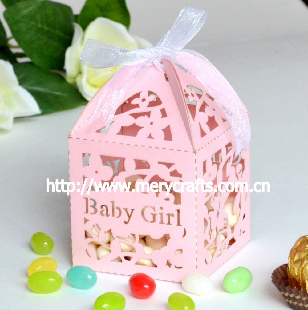 Personalized baby girl Baptism Souvenirs Favor Box laser cut With ...