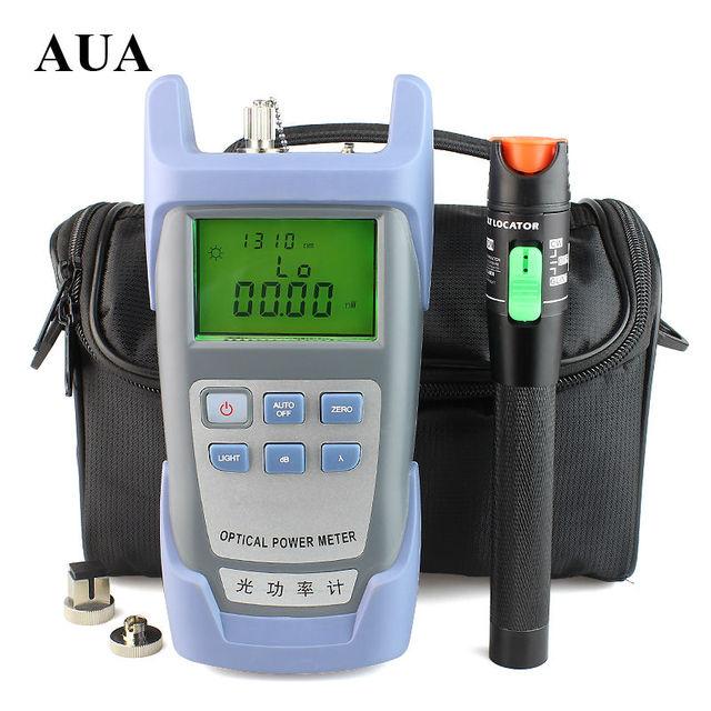 Envío libre 30 mW Visual Fault Locator Fiber Optic Cable Tester y Medidor de Potencia de Fibra Óptica (-$ number dbm ~ $ number dbm) de fibra Óptica de Energía