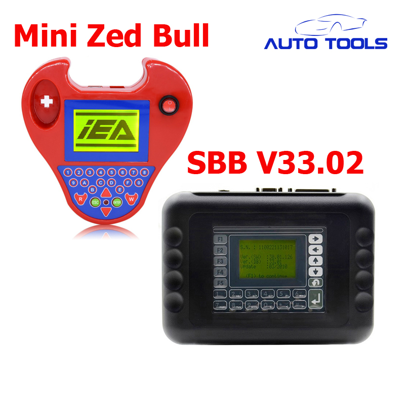 Auto car key programmer SBB V33.02 and Smart mini zed bull Auto KeyTransponder No Tokens Limited via DHL FREE