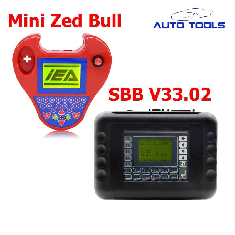 Auto car key programmer SBB V33.02 and Smart mini zed bull Auto KeyTransponder No Tokens Limited via DHL FREE xtool x100 pro auto key programmer