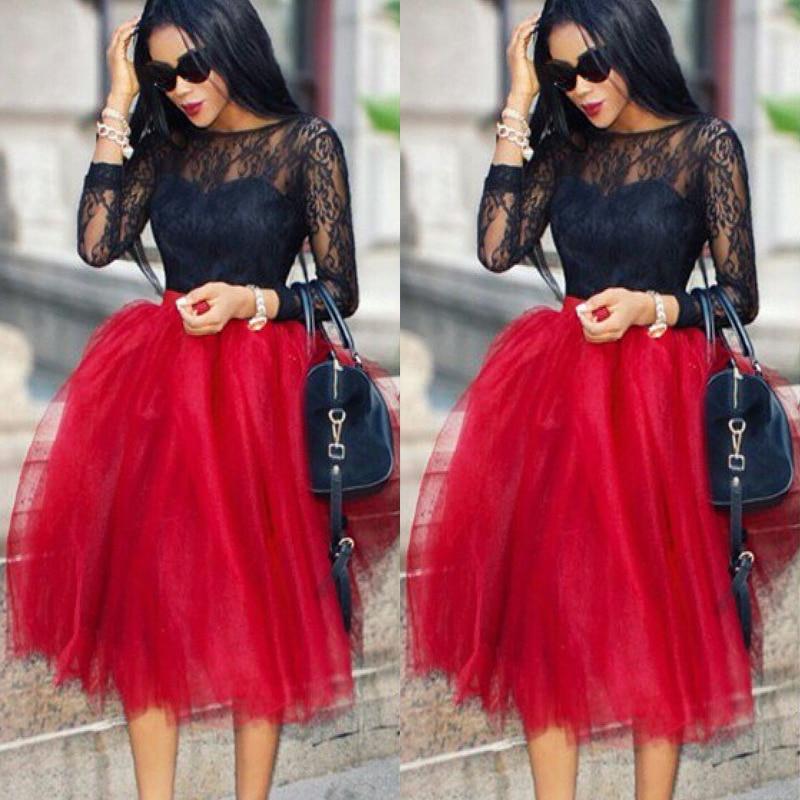 Beautiful Details About Women Stylish 5 Layers Tutu Skirt Petticoat KneeLength