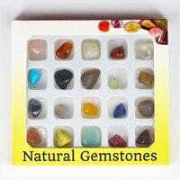 1 Box מקסים לקשט פנינת אבן טבעית חצי יקר חרוזים קוורץ שמירה על תמהיל תיבה חדשה חרוזים אבן חומר לתכשיטים DIY