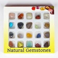 1 Box Очаровательная декорирования натурального драгоценного камня Mix себе кварцевые Бусины и бисер новая коробка камень Бусины и Бисер для ювелирных изделий