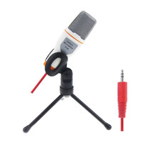 2017 New High Quality Wired High Quality Stereo Condenser Microphone With Holder Clip For Chatting Karaoke