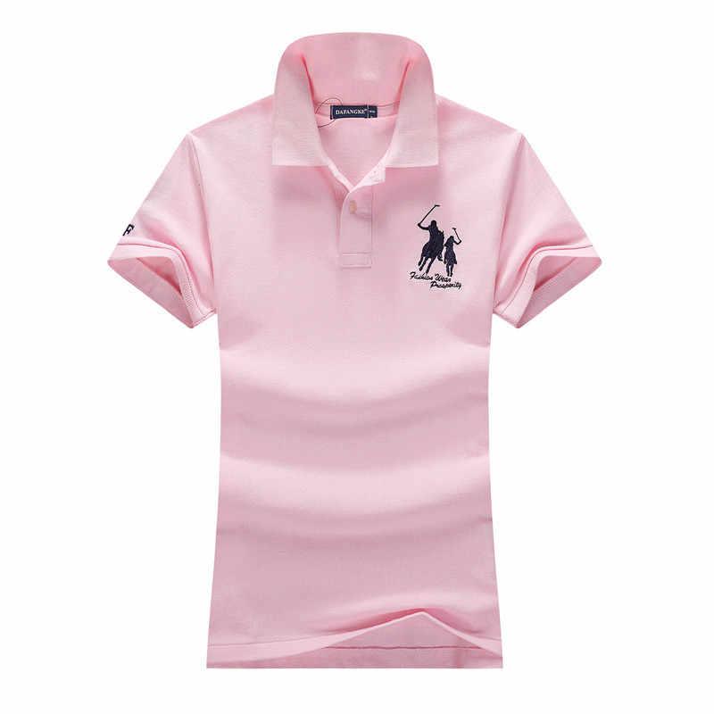 $9.99 サマーセール女性レディーガール綿 100% スキニーフィット馬の刺繍ロゴポロシャツリブポロ襟テニス尾
