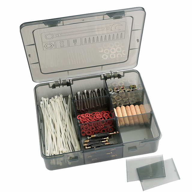 Portable Large capacity hand tools Suitcase drill Screwdriver Nuts Kits repair tools box Organize storage case