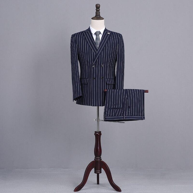 ヾ(^▽^)ノПоследние конструкции пальто брюки Темно-синие жениха ... 7484ef97fbb