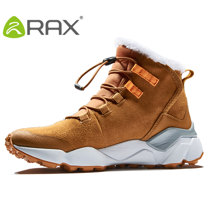 2017 RAX Women's Hiking Boots Winter Snow Boots Women Outdoor Hiking Shoes Trekking Warm Anti-slip Shoes For Women yin qi shi man winter outdoor shoes hiking camping trip high top hiking boots cow leather durable female plush warm outdoor boot