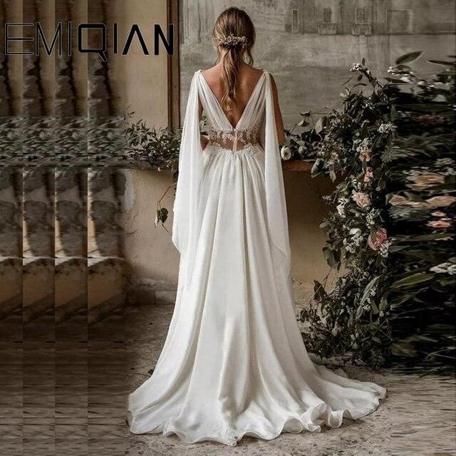 Boho Wedding Dress, Boho Dress, Ancient Greek Wedding Dress, Wedding Gown, Backless Bridal Dress 4