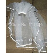 1 т Белая лента Край Свадебные аксессуары Свадебные вуаль с расческой покрывал для невесты