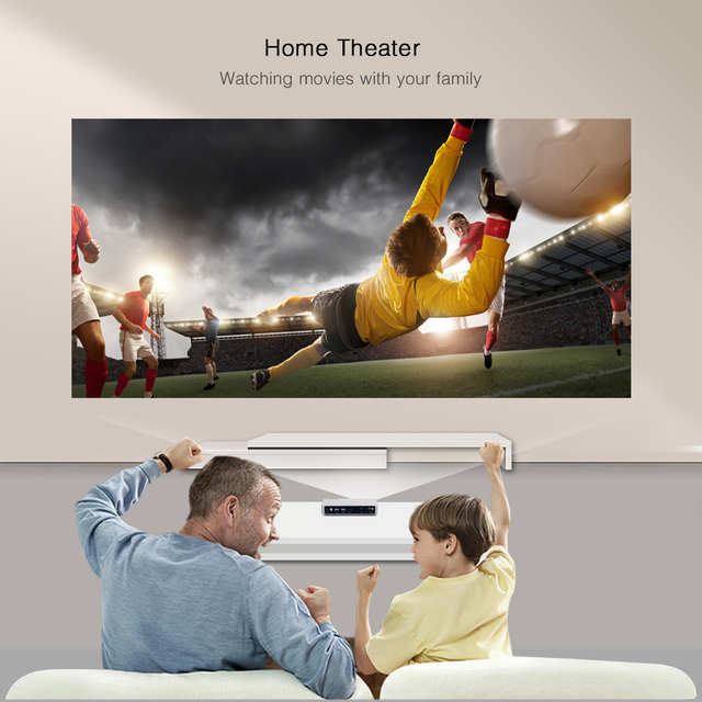 BYINTEK  UFO R9 Home theater business office entertainment support HD 1080P Portable mini LED DLP projector