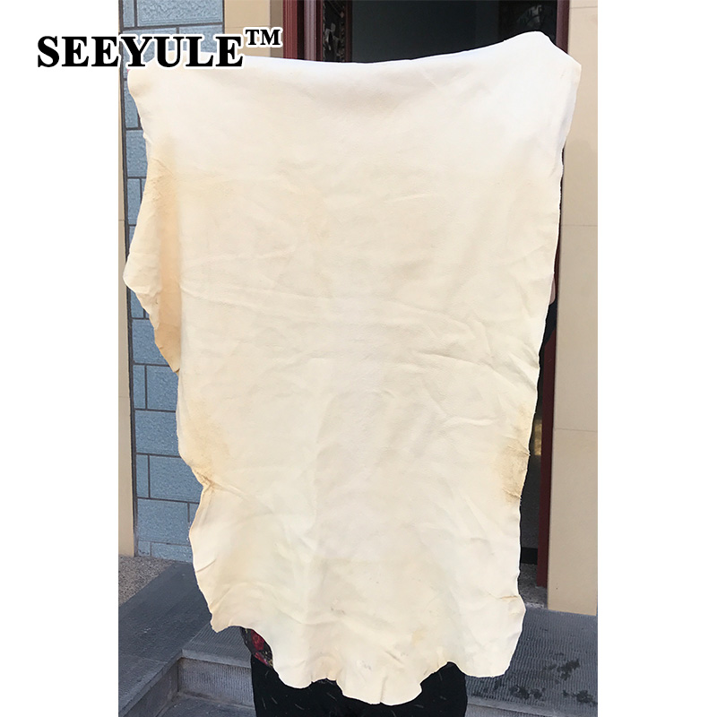 1pc SEEYULE Auto Car Natural Drying Chamois Sheepskin