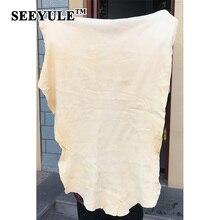 ФОТО 1pc seeyule auto car natural drying chamois sheepskin deerskin towel cleaning washer genuine leather cloth dust remover