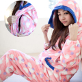 Maternity sleepwear  Autumn and winter Flannel Fabric Nursing pajamas  Breastfeeding Clothes for preganant Women Wearing
