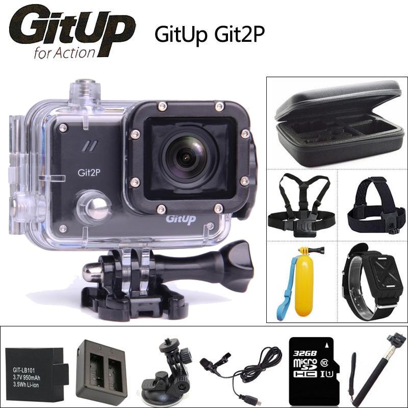 Original GitUP Git2P Action Camera 2K Wifi Full HD 1080P 30M Waterproof Camcorder 1.5 inch Novatek 96660 Git2 P PRO Sport DV