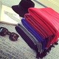 Оптовая 2016 зима шарф Англия классический шарф платки и шарфы пашмины сплошной цвет бахромой шарфы кашемира женщин