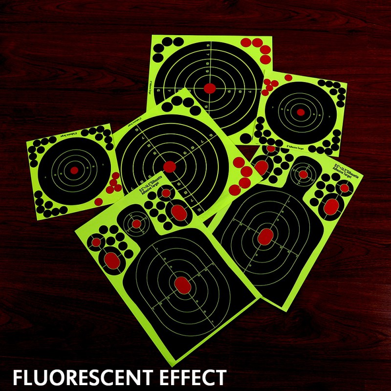 DROP SHIPPING 30 PCS/PACK Realistic Fluorescence Targets For Professional Shooting Paster Sticker Paper,roll Packaged Not Folded