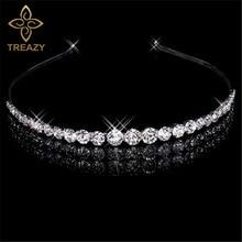 TREAZY Elegante Accessori Per Capelli Da Sposa Per Le Donne Hairbands di  Cristallo di Cerimonia Nuziale 44a7a9e3fe53