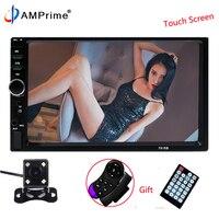 AMprime Autoradio Car Radio 2 Din 7 LCD Multimedia Player 7018B Bluetooth MP3 FM USB AUX