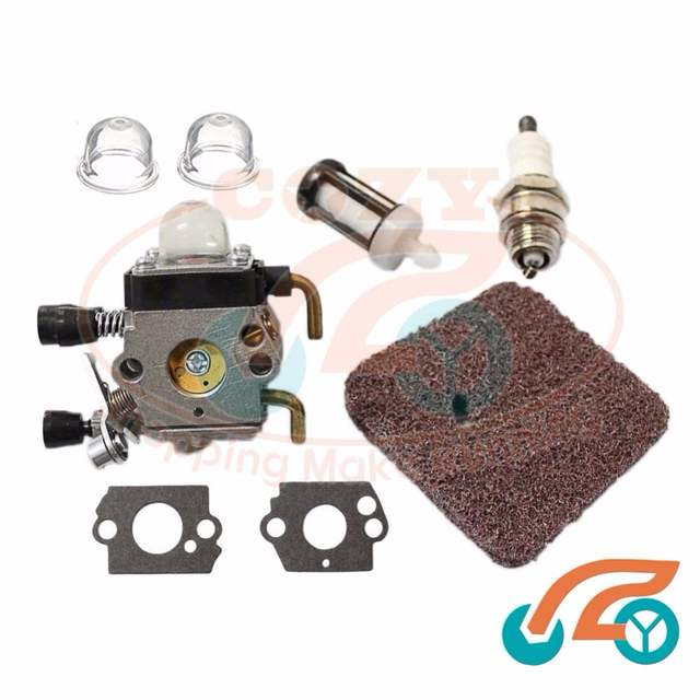 US Carburetor Air Filter Spark Plug For STIHL FS38 FS45 FS55 FC55 FS74 FS75 FS76 FS80 FS85 KM80 TRIMMER ZAMA C1Q Series In Chainsaws From