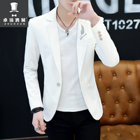 HO 2019 male Cultivate one's morality fashion handsome printing a thin blazer Autumn new youth single blazer